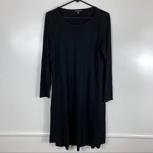 Eileen Fisher Solid Black Dress Womens Small